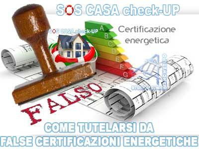 false certificazioni energetiche