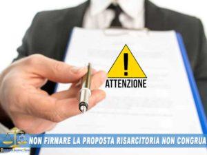 contestazione offerta assicurazione Rifiuto proposta risarcimento assicurazione Torino Ivrea Milano Como Monza